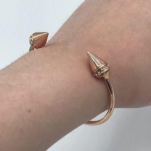 Baublebar Rose Gold Studded Spike Bangle Bracelet